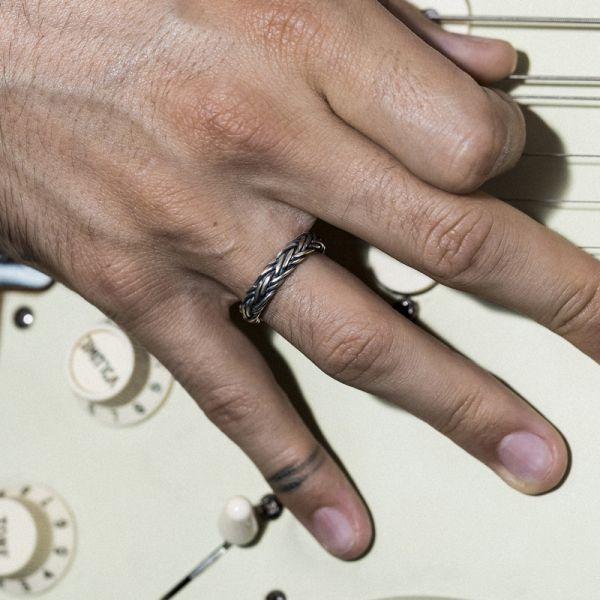 Bracelet en Cuir Vert Et...